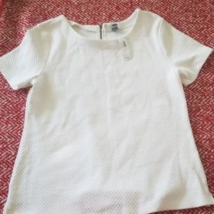 Nwt white waffle knit top